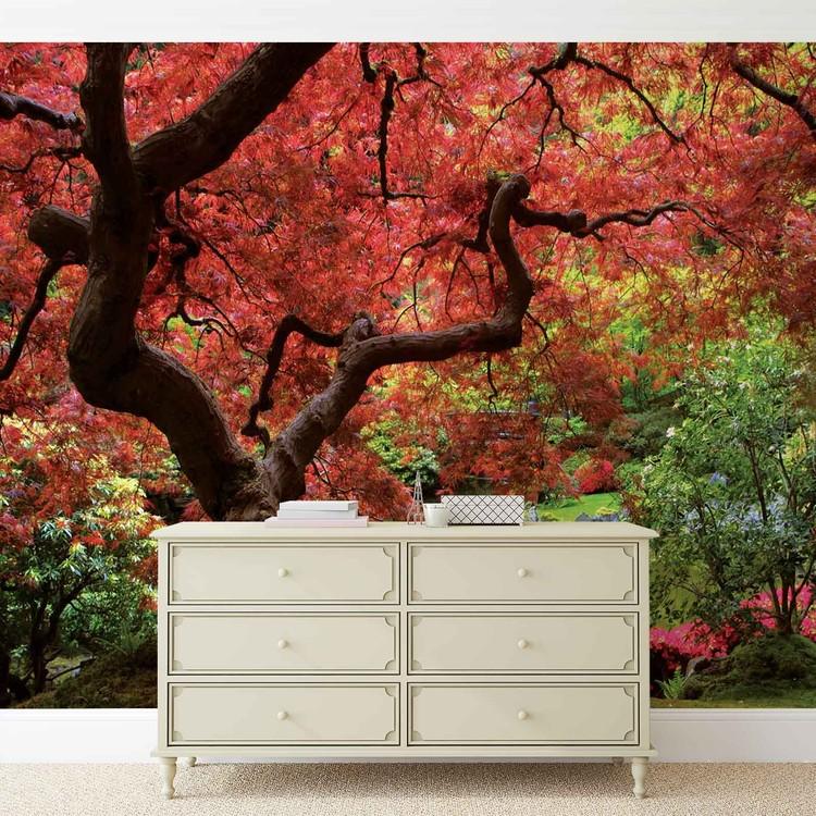 fototapete tapete blumen wald natur bei europosters. Black Bedroom Furniture Sets. Home Design Ideas