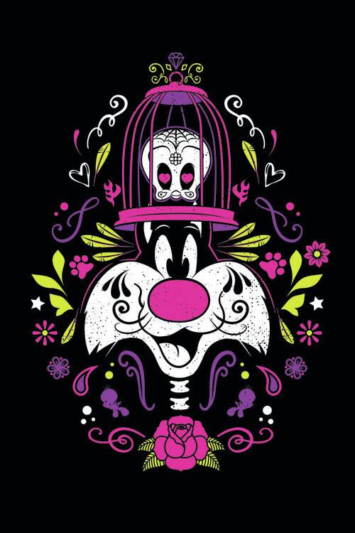 Daffy Duck - Sylvester Fototapete