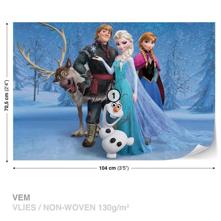 Extrem Fototapete, Tapete Disney Eiskönigin Elsa Anna Olaf Sven bei SN03