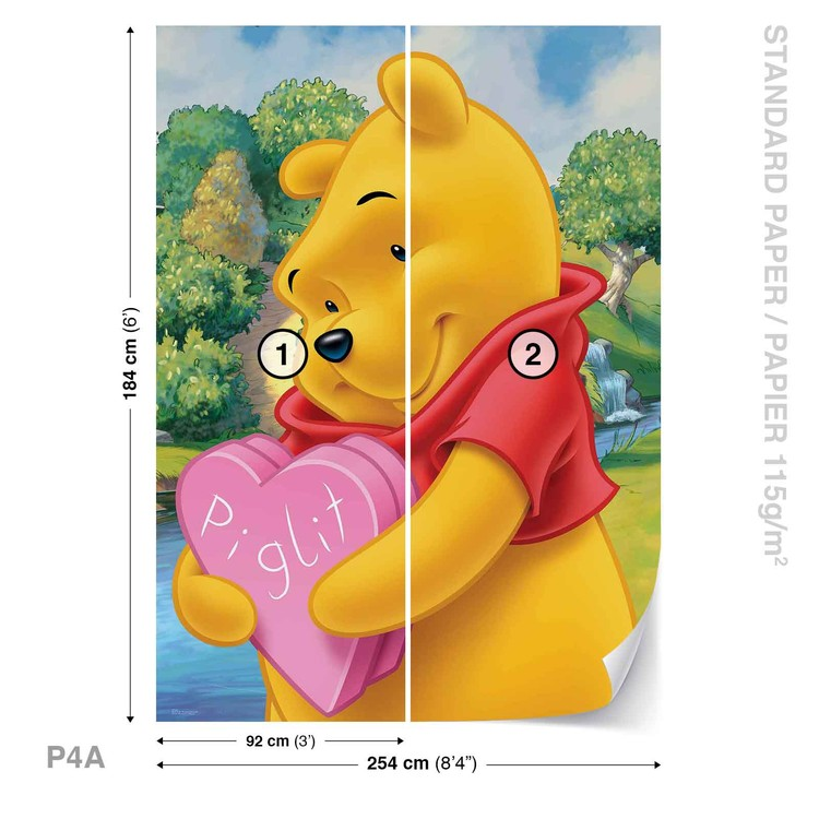 9310a1297d2 Fototapete, Tapete Disney Winnie Pu Bär bei EuroPosters ...