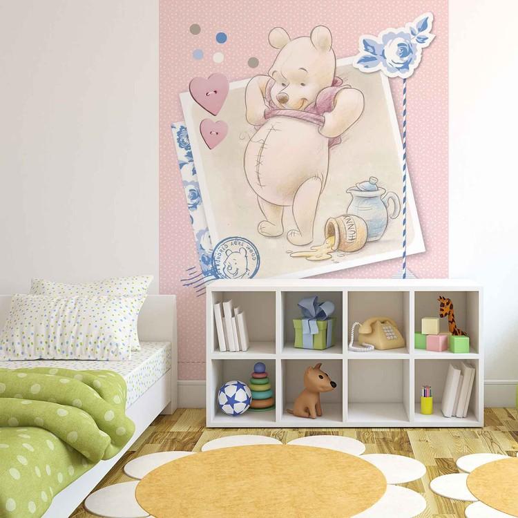 fototapete tapete disney winnie pu b r bei europosters. Black Bedroom Furniture Sets. Home Design Ideas