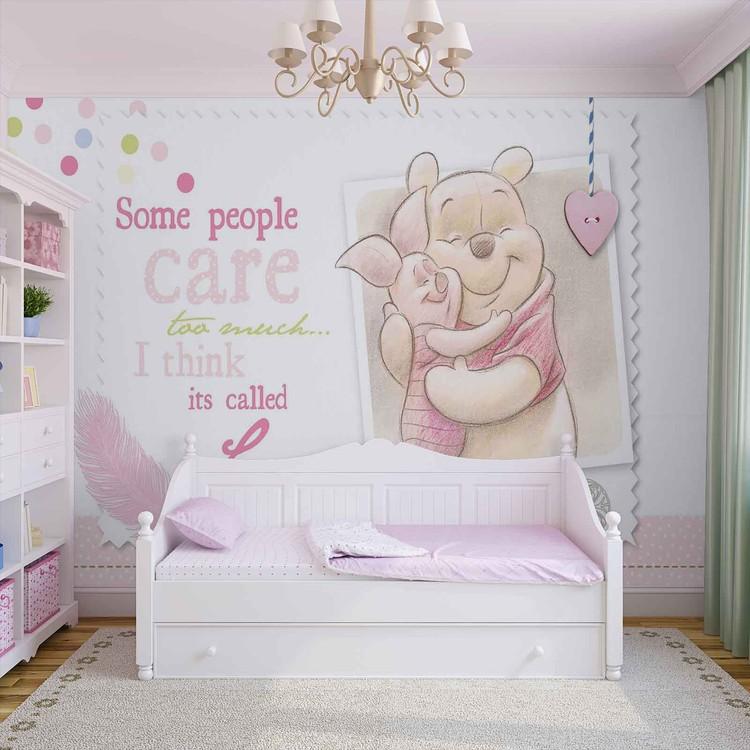 Fototapete tapete disney winnie pu b r ferkel bei - Winnie pooh babyzimmer ...