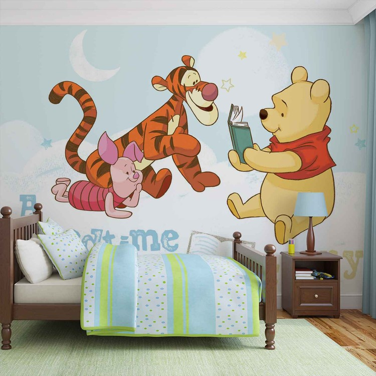 fototapete tapete disney winnie pu b r ferkel tiger bei europosters kostenloser versand. Black Bedroom Furniture Sets. Home Design Ideas