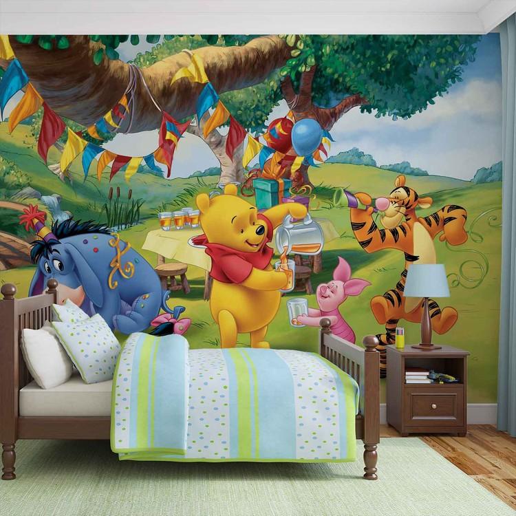 Disney Winnie Pu Bär Ferkel Tiger I-Aah Fototapete
