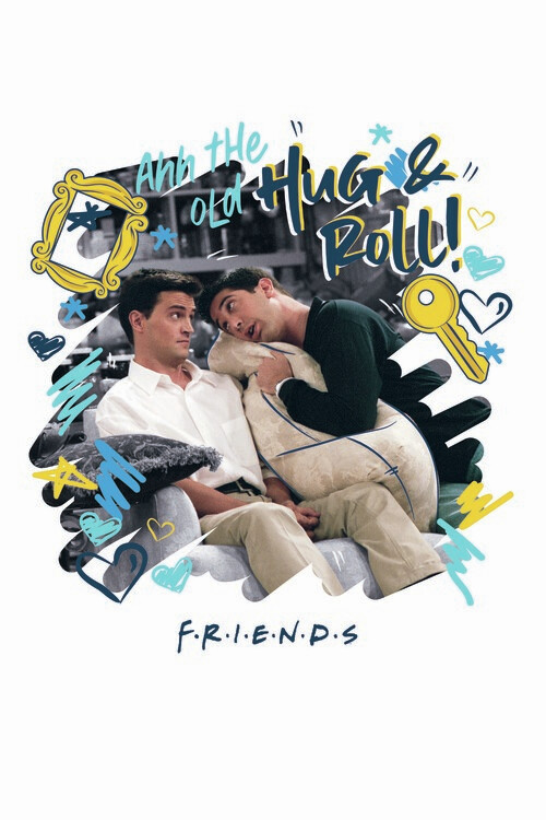 Friends - Hug and Roll! Fototapete