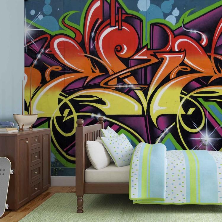 fototapete tapete graffiti street art bei europosters kostenloser versand. Black Bedroom Furniture Sets. Home Design Ideas