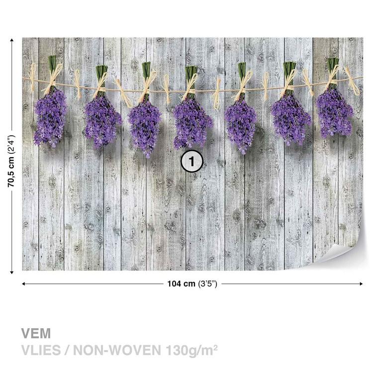 m2 vlies non woven i39495 - Tapete Lavendel