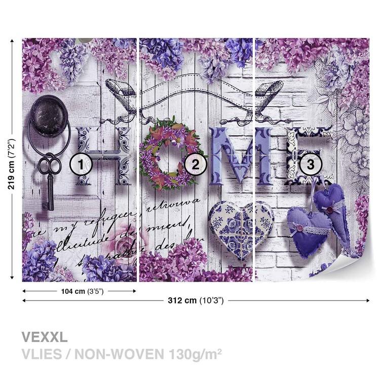 fototapete tapete home blumen lila bei europosters kostenloser versand. Black Bedroom Furniture Sets. Home Design Ideas