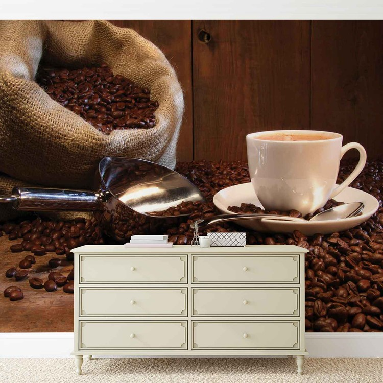 fototapete tapete kaffee cafe bei europosters. Black Bedroom Furniture Sets. Home Design Ideas