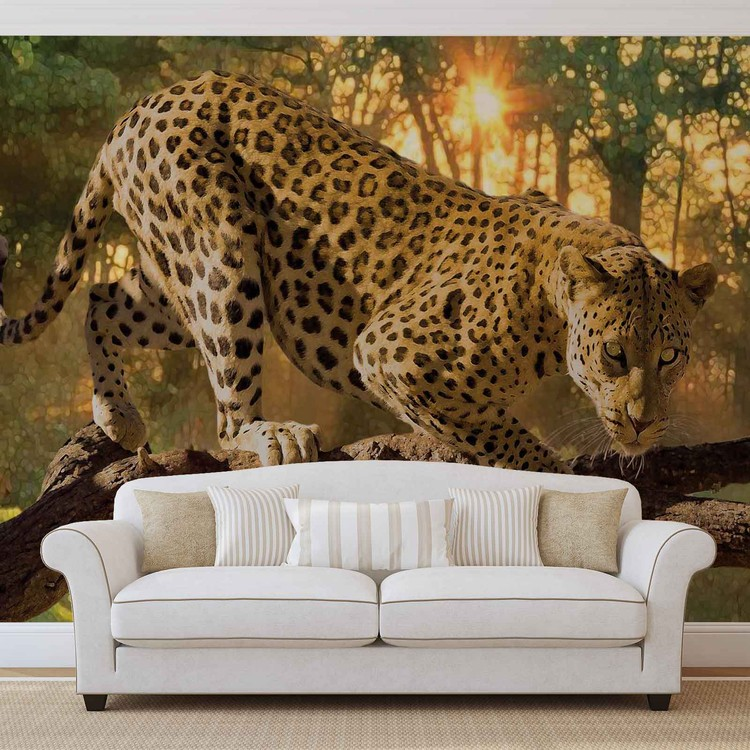 Fototapete, Tapete Leopard bei EuroPosters - Kostenloser Versand