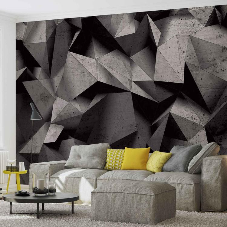 Modern Abstract Geometric Art Fototapete