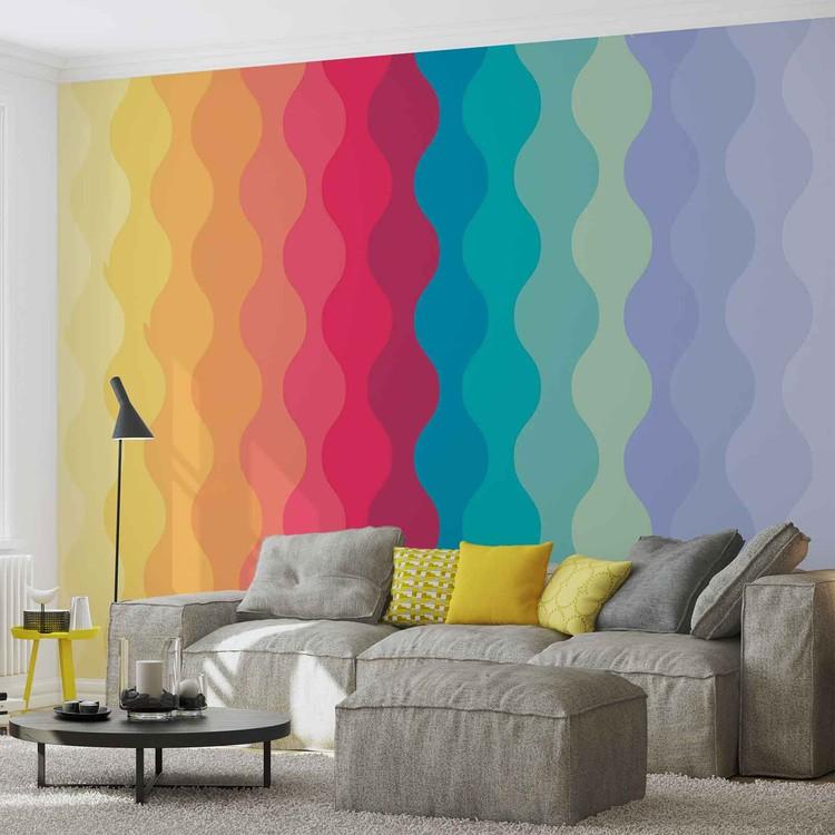 fototapete tapete modern art rainbow bei europosters kostenloser versand. Black Bedroom Furniture Sets. Home Design Ideas