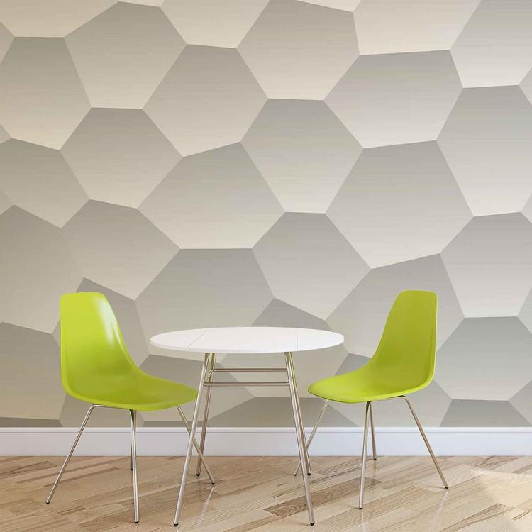 Modern Hexagone Muster Fototapete
