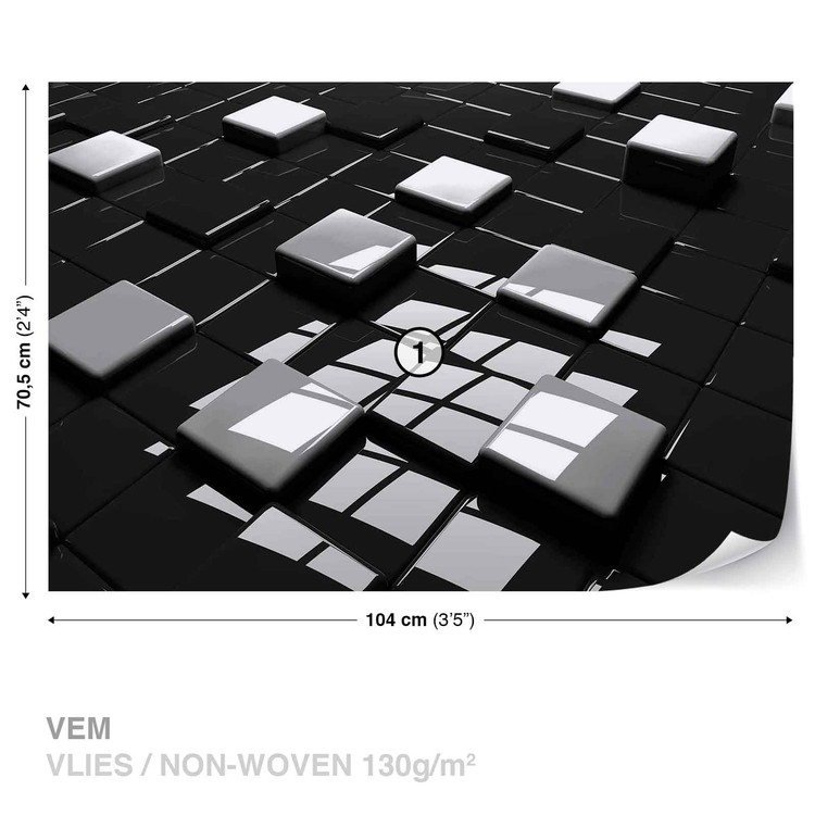 Fototapete tapete moderne abstrakte quadrate bei europosters kostenloser versand - Moderne fototapeten ...