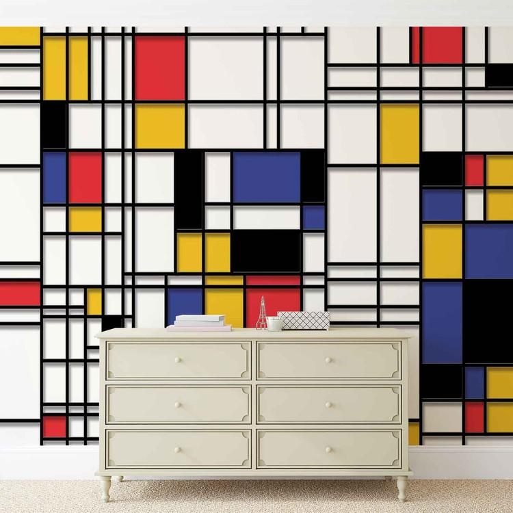 Fototapete, Tapete Mondrian Moderne Kunst bei EuroPosters ...