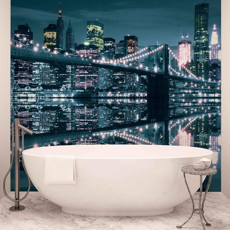 New York City Skyline Brooklyn Brücke Fototapete