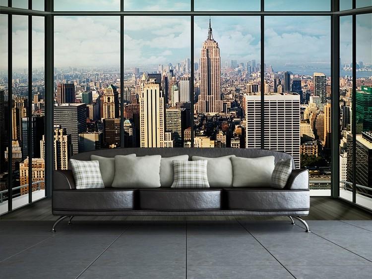 Fototapete, Tapete New York - Manhattan Skyline bei EuroPosters ...