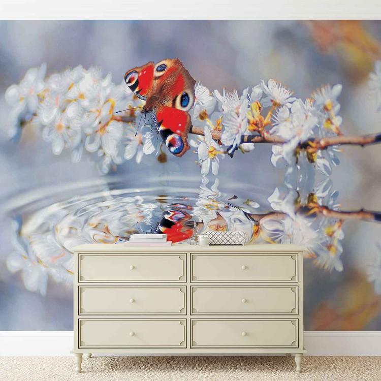 Attractive Fototapete, Tapete Schmetterling Blumen Wasser Bei EuroPosters    Kostenloser Versand