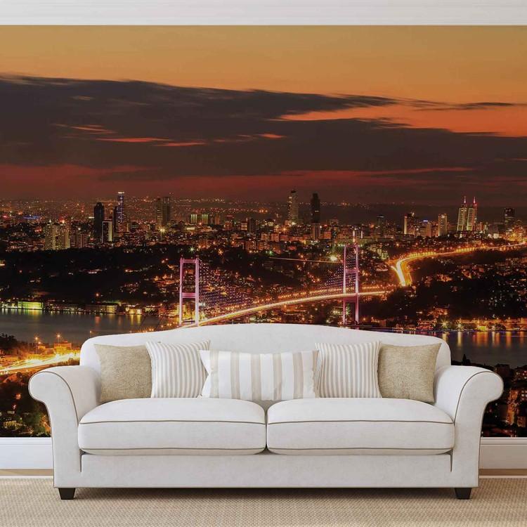 Stadt Istanbul Skyline Bosporus Fototapete
