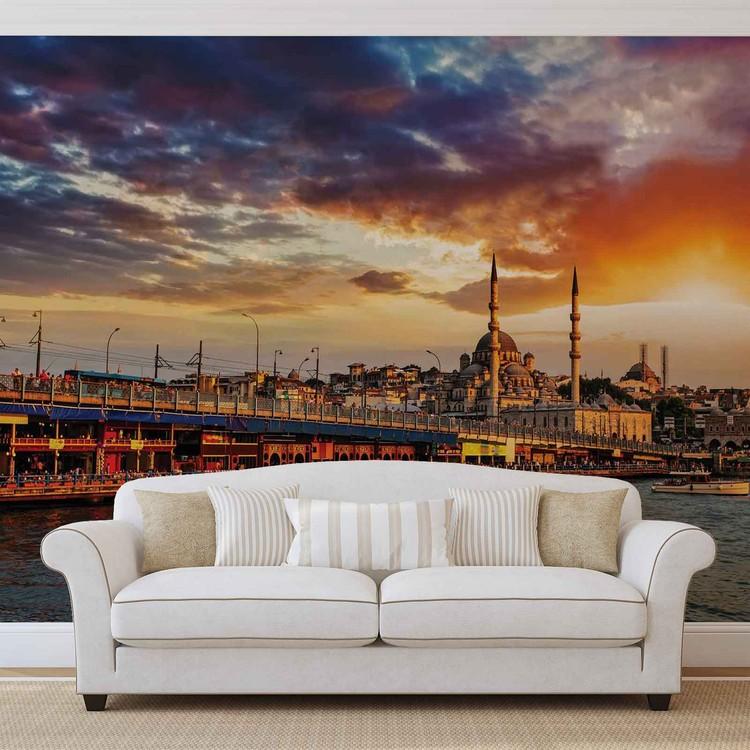 fototapete tapete stadt istanbul sonnenuntergang bei europosters kostenloser versand. Black Bedroom Furniture Sets. Home Design Ideas