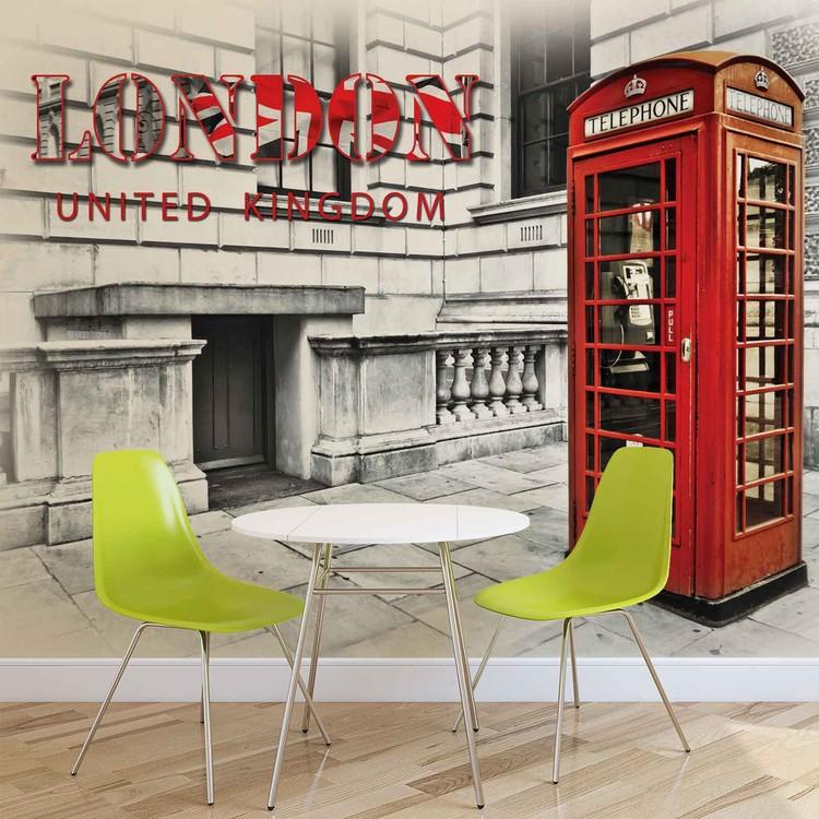 Stadt London Telefonzelle Rot Fototapete