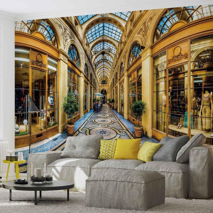 fototapete tapete stadt mailand passage gesch fte bei europosters kostenloser versand. Black Bedroom Furniture Sets. Home Design Ideas