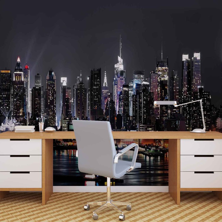 fototapete tapete stadt new york city bei europosters kostenloser versand. Black Bedroom Furniture Sets. Home Design Ideas