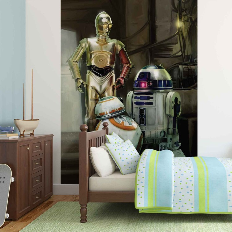 fototapete tapete star wars droide bei europosters kostenloser versand. Black Bedroom Furniture Sets. Home Design Ideas