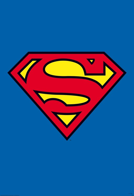 Superman - logo Fototapete