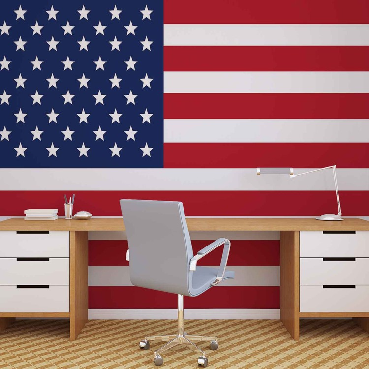 Lovely Fototapete, Tapete USA Amerika Flaggen Bei EuroPosters   Kostenloser Versand