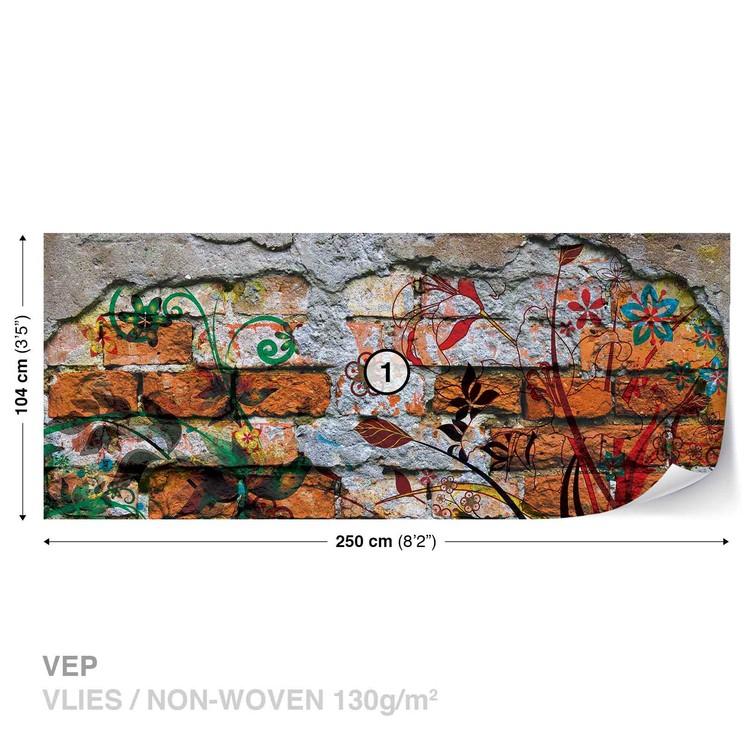 fototapete tapete wand graffiti street art bei europosters kostenloser versand. Black Bedroom Furniture Sets. Home Design Ideas
