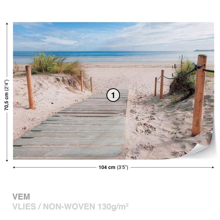 Fototapete, Tapete Weg Strand Sand Natur bei EuroPosters ...
