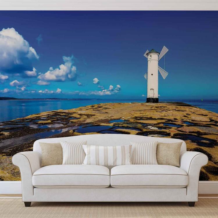 fototapete tapete windm hle strand see bei europosters kostenloser versand. Black Bedroom Furniture Sets. Home Design Ideas