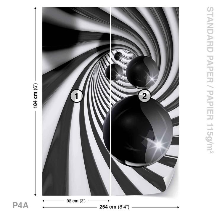 Abstract Swirl Modern Spheres Fototapet