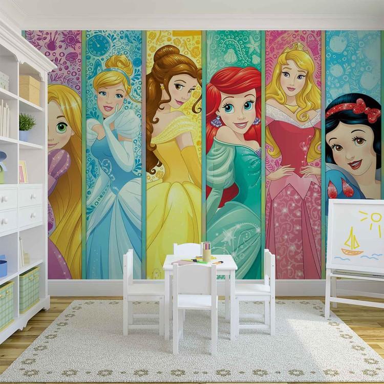 Disney Princesses Aurora Belle Ariel Fototapet