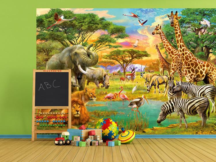 Dyrene fra Afrika Fototapet