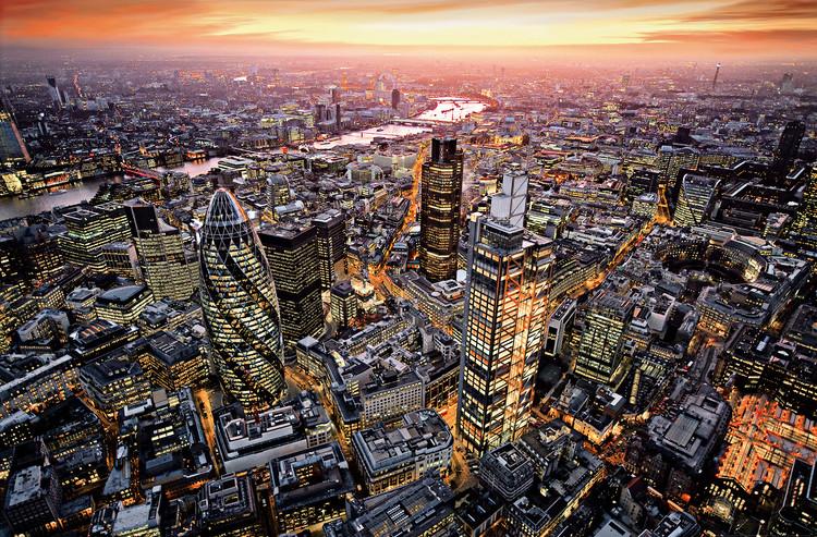 LONDON AERIAL VIEW Fototapet