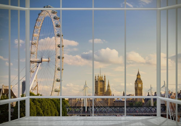 London - vindue Fototapet