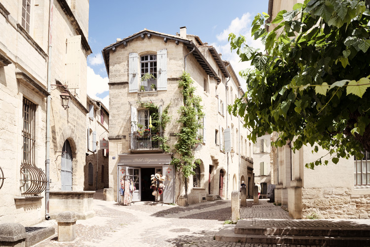 Provencal Street in Uzès Fototapet