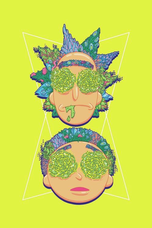 Rick and Morty - Hypnotized Fototapet