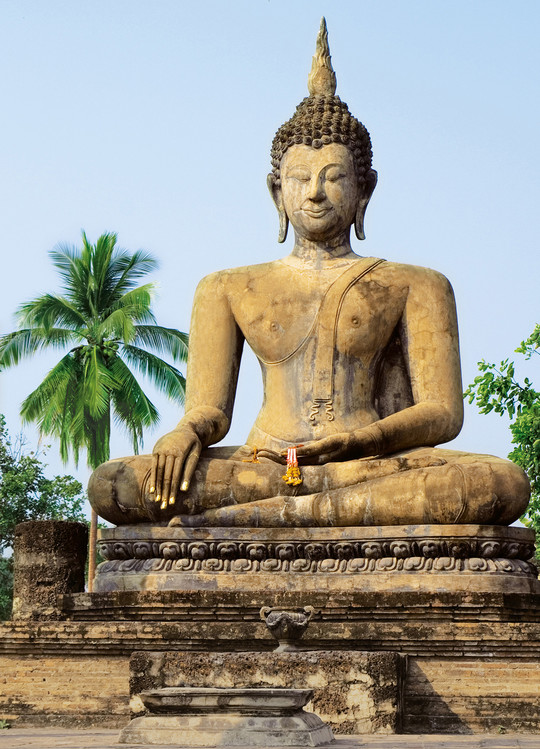 SUKHOTHAI, wat sra sri temple Fototapet