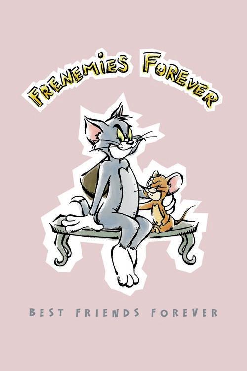 Tom og Jerry - Bedste venner for evigt Fototapet