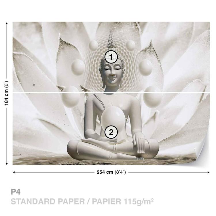 Fototapeta 3D vzor - Buddha v lotusu
