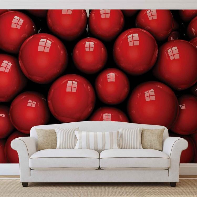 Fototapeta  Abstraktné umenie červené gule