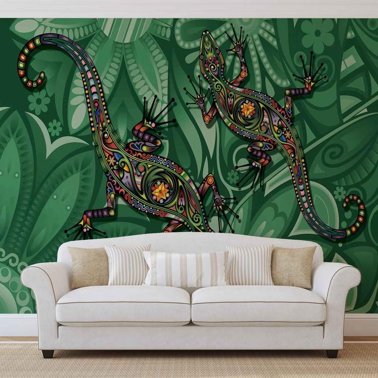Fototapeta Abstraktní ještěrka z květin