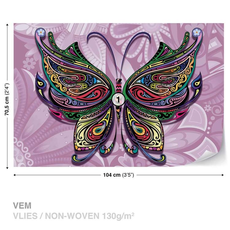 Fototapeta Abstraktní motýl z květin