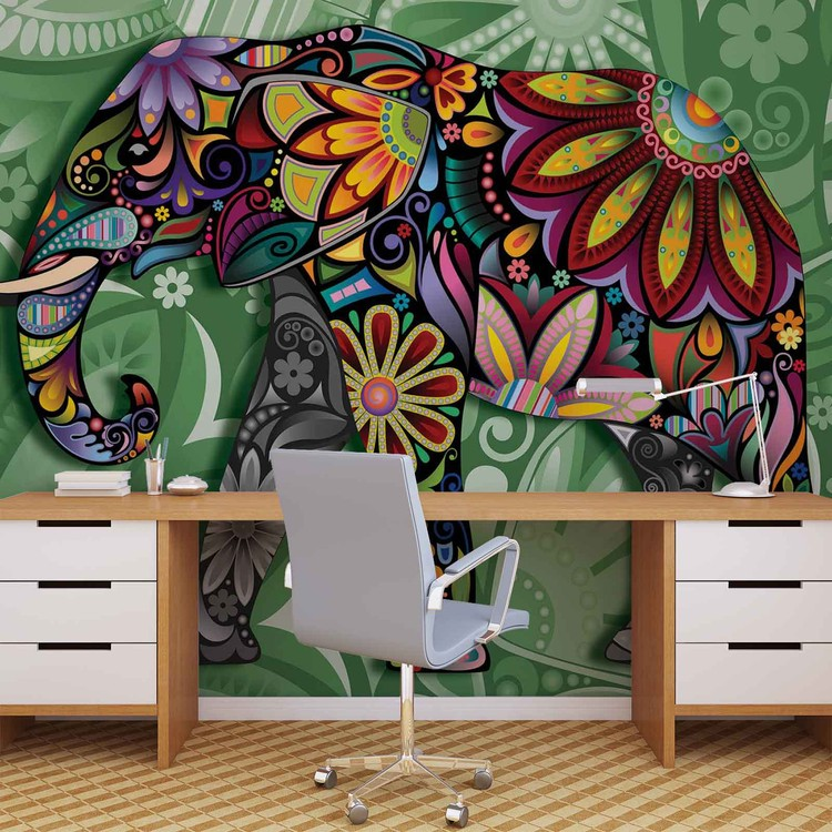Fototapeta Abstraktní slon z květin