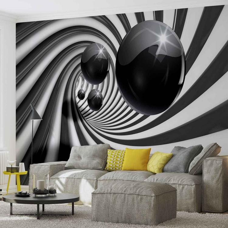 Fototapeta  Abstraktní víry - Černé koule