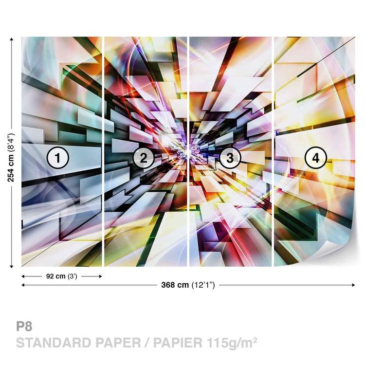 Fototapeta Abstraktní vzor mix barev