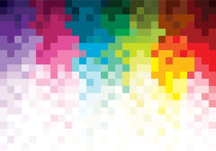 Fototapeta Abstraktní vzor pixely - duha